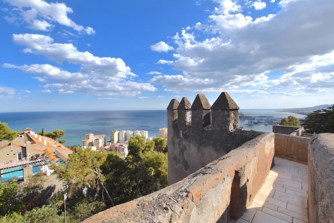 things to see in malaga castle of gibralfaro