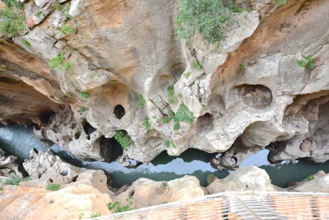 Gorge of the pigeons caminito rey malaga