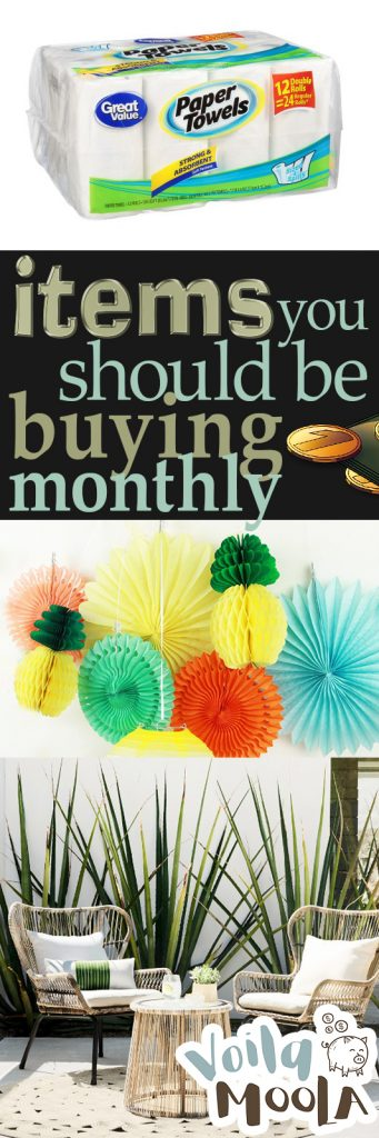 Items You Should Be Buying Monthly| Save Money Shopping, How to Save Money Shopping, Buy These Items Monthly, Items to Purchase Monthly, Purchase This Monthly, Finance, Save More Money, Save Money on Groceries