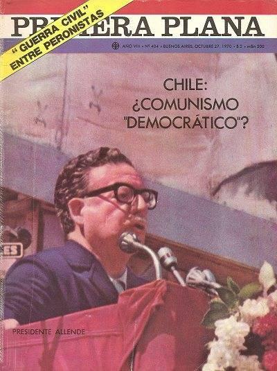 """Чилийското списание Praetera Plana с водеща тема: Чили: """"Демократичен"""" комунизъм?, 1970 г."""