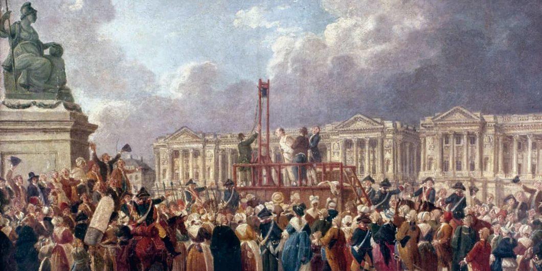 Пиер-Антоан ДеМаши (Pierre-Antoine DeMachy), Смъртна присъда на площада на Революцията (Une Exécution capitale, place de la Révolution). Изображение: Wikimedia Commons
