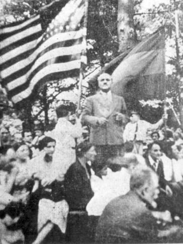 Нъждех пътува и до САЩ, за да защитава арменската кауза. На снимката е на учредяването на Арменската младежка федерация Цехакрон в Бостън, 1933 г.