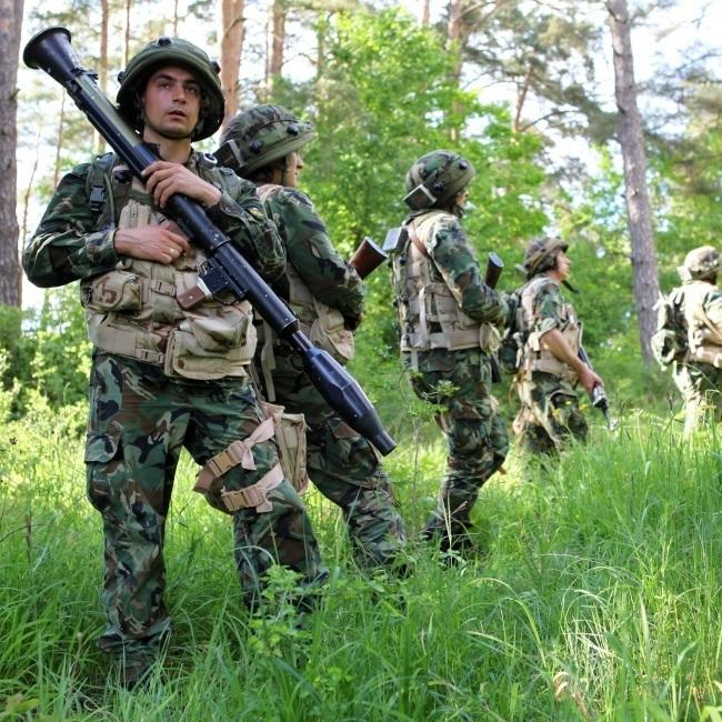 Български войници на учените на НАТО, 2014 г. Снимка: Staff Sgt. Randy P. Florendo