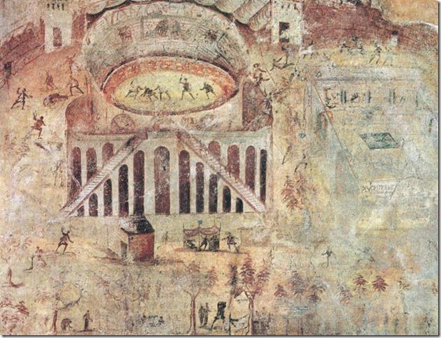 Fresque de la rixe de 59 à Pompéi