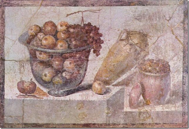 Nature morte au panier de fruits et vase