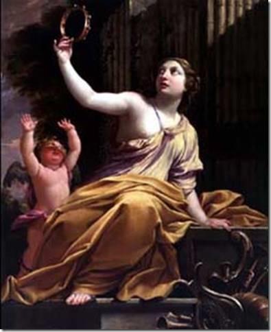 Erato, Muse de la Poésie lyrique par Simon Vouet