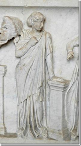 Terpsichore, Muse de la Poésie lyrique et de la Danse, sarcophage du Louvre