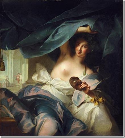 Thalie, Muse de la Comédie par J. M. Nattier