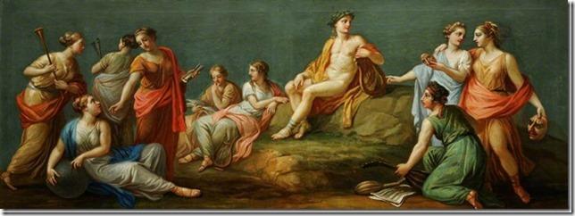 Apollon et les Muses par Antonio Zucchi