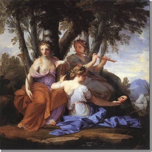 Les Muses Clio, Euterpe et Thalie par Eustache Lesueur