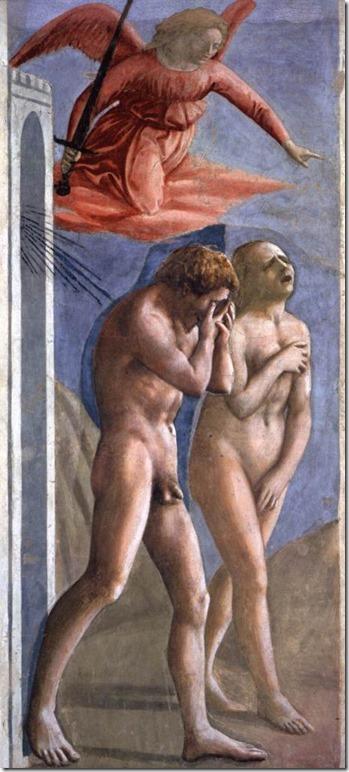 Adam et Eve chassés du Paradis, Masaccio, Chapelle Brancacci, Eglise Santa Maria del Carmine, Florence