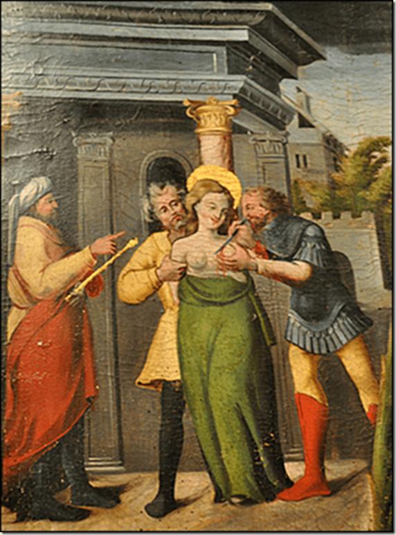 Martyre de Sainte Agathe, retable de Ramon Oscariz