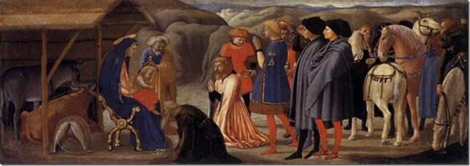 L'Adoration des mages, Polyptyque de Pise, Masaccio, Staatliche Museen, Berlin