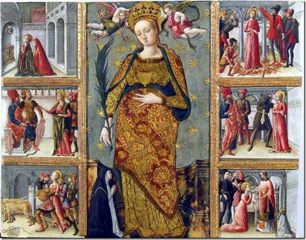 Episodes de la vie de Sainte Lucie par Quirizio da Murano