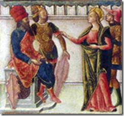 Sainte Lucie devant ses juges par Quirizio da Murano