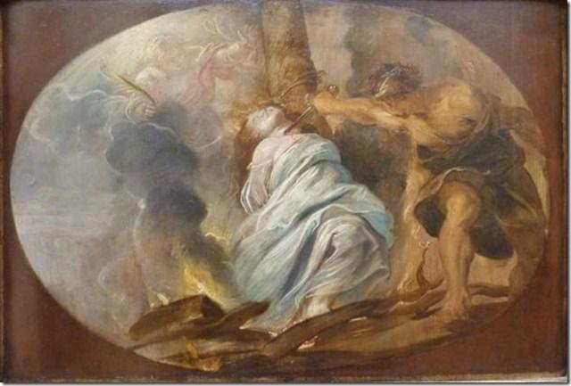 Le Martyre de Sainte Lucie, Rubens, église Saint Charles Borromée d'Anvers, Musée des Beaux-Arts de Quimper