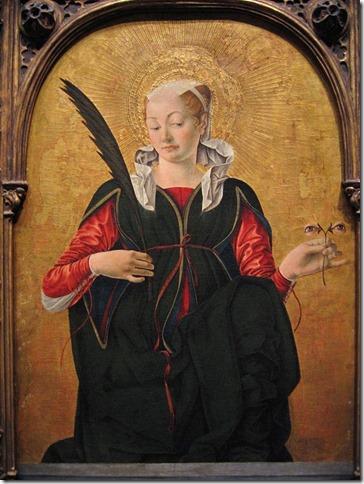 Sainte Lucie, Francesco del Cossa