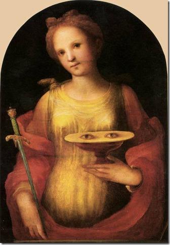 Sainte Lucie, Beccafumi, Pinacoteca Nazionale, Sienne