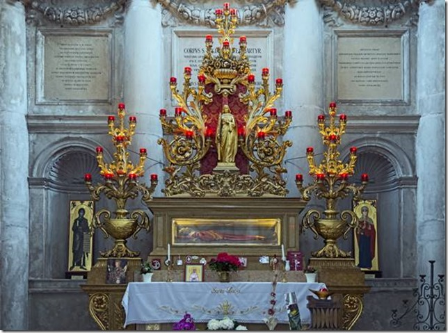 Reliques de sainte Lucie dans l'église San Geremina, Venise