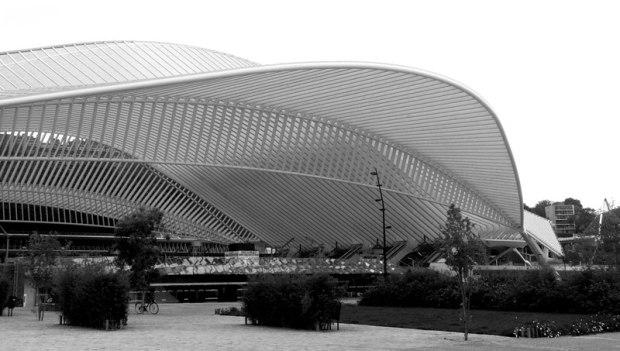 La nouvelle gare des Guillemins, oeuvre de Santiago Calatrava.