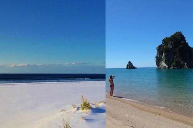 ©  moi De la plage enneigée d'Invercargill (46°Sud) à celle de Karikari Peninsula (34°Sud)