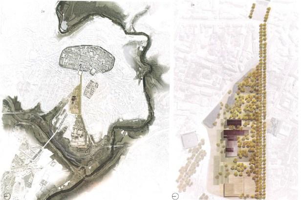 Plan masse du Musée Soulages