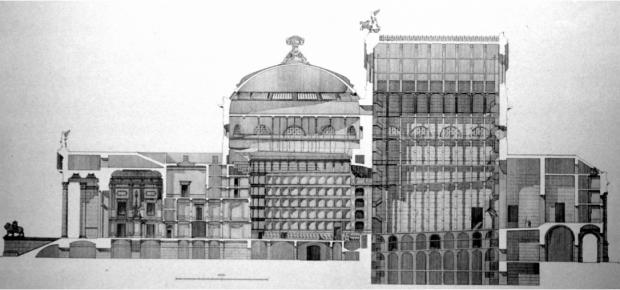 Sezione longitudinale- Teatro Massimo (Il teatro Massimo di Palermo a cura di Floriana Tessitore ,casa editrice Fondazione Teatro Massimo, 2013)