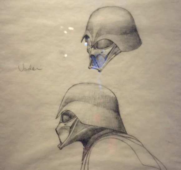 Ce dessin préliminaire montre que le personnage de Dark Vador était bien défini très tôt…