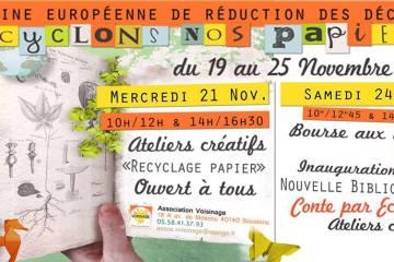 atelier creatif recyclage papier