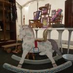 cheval à bascule en bois belle époque