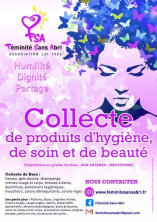 Collecte produits d'hygiène, soin et de beauté