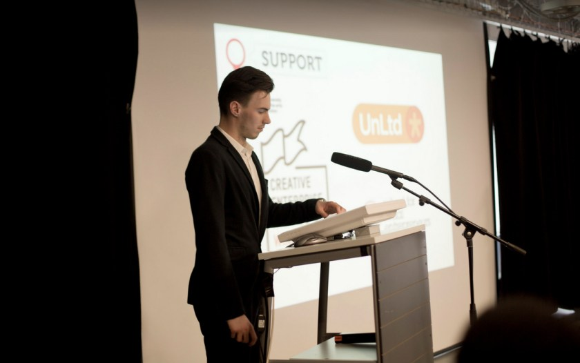 Alex during the Mapify presentation © Solve Together