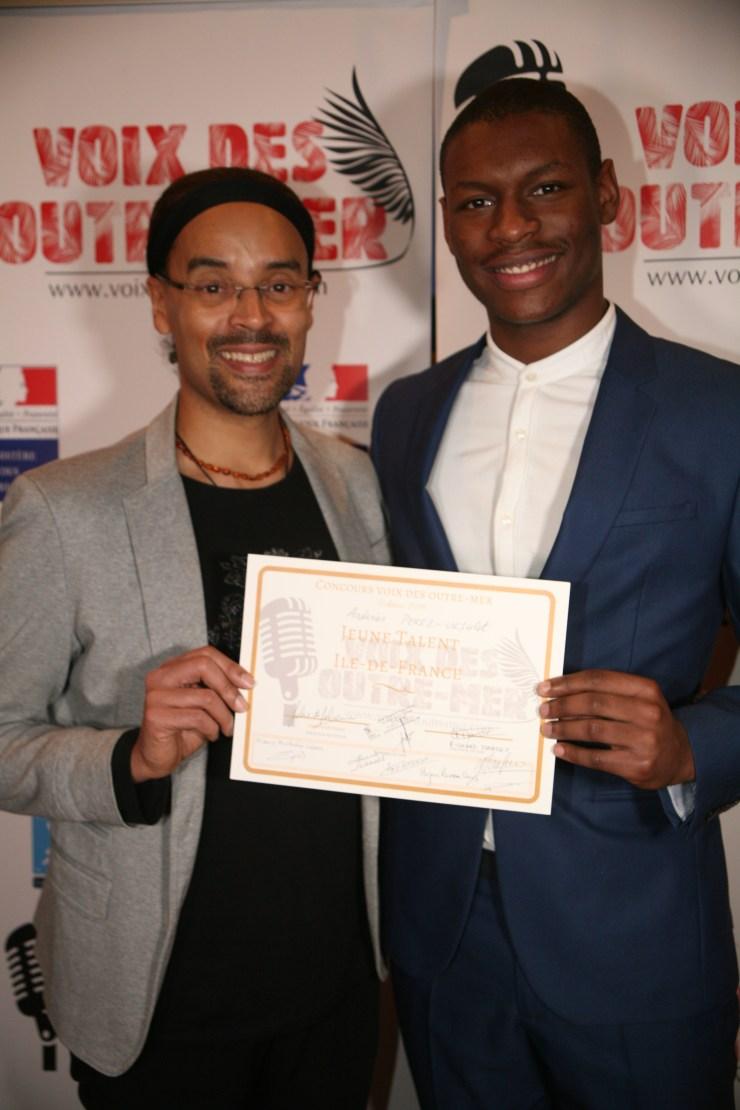 Andréas Prodiges 2018 & jeune talent Voix des Outre-mer avec Fabrice di Falco