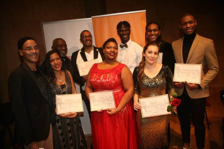 Les finalistes après la finale du concours Voix des Outre-Mer
