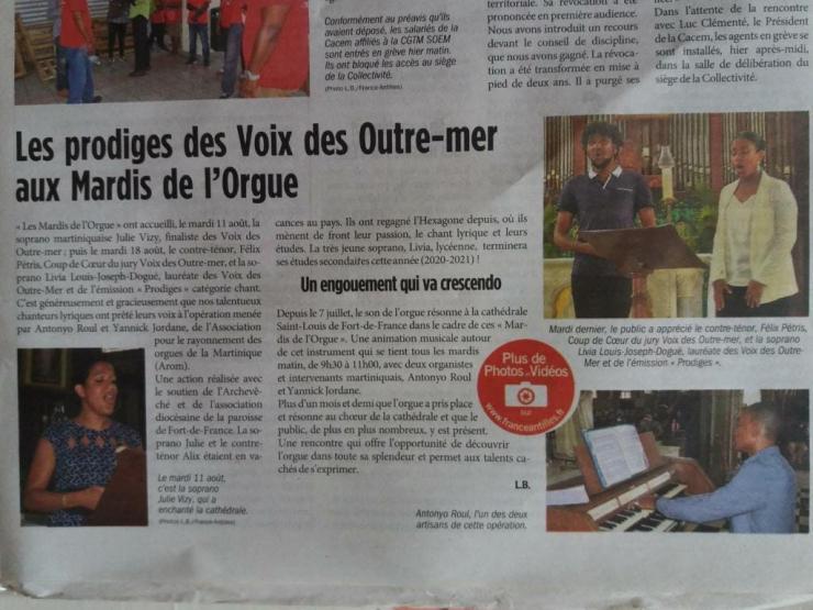 Voix des Outre-mer France antilles Martinique