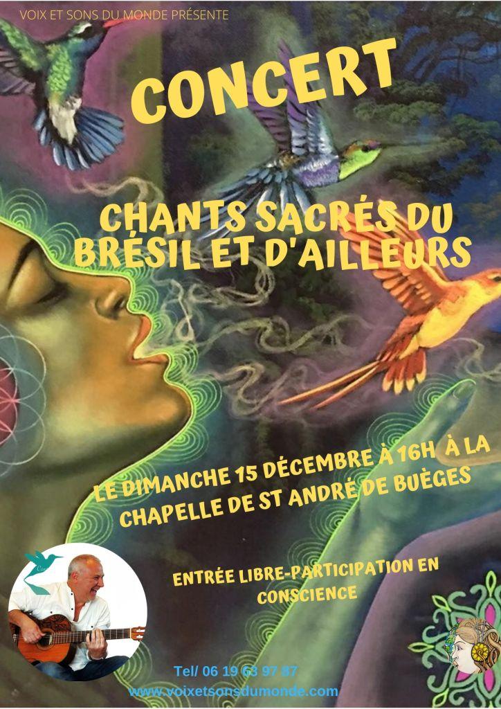concert chants sacrés du Brésil- voix et ons du monde