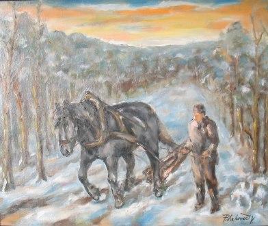 Štyri ročné obdobia s čiernym koňom: zvážanie obilia - zima