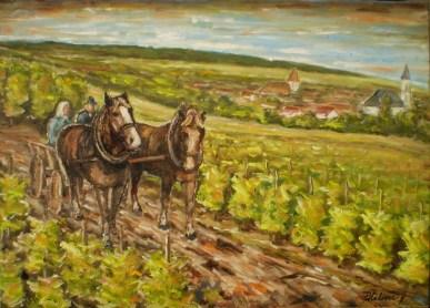 Na ceste z práce vo vinici