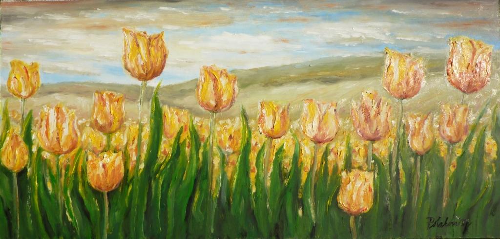 Záhon tulipánov