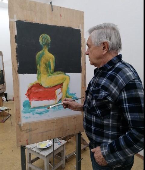 Z ateliérov Vysokej školy výtvarných umení v Bratislave na Kocelovej ulici.