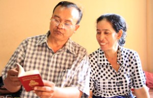 Mr. Ly Chhuon and his wife. RFA photo