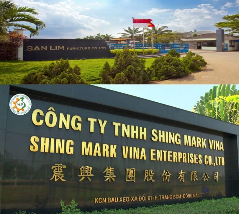 រោងចក្រ សានឡឹម ហ្វឺនិតឆ័រ (San Lim furniture ) និងរោងចក្រ ហ្សិញម៉ាក វីណា (Shing Mark Vina) ស្ថិតនៅក្នុងសួនឧស្សាហកម្ម ខេត្តវាលប្រើស ។ រូបពី Internet