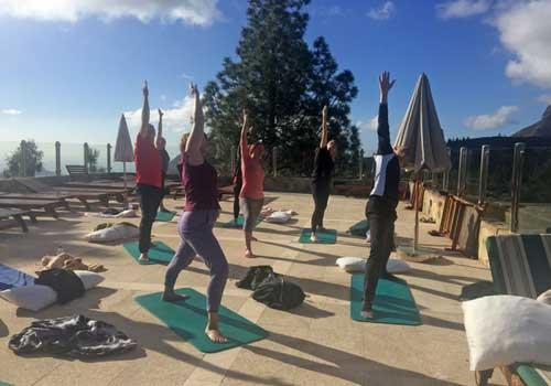 yoga på tagterrassen