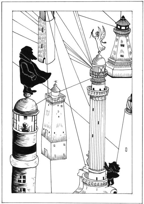 Il cacciatore di fari è un racconto di Chiara Mancinelli illustrato da Jana Kalc. Il racconto dà il titolo al libro di Chiara Mancinelli pubblicato da Robin. È ambientato a Trieste.