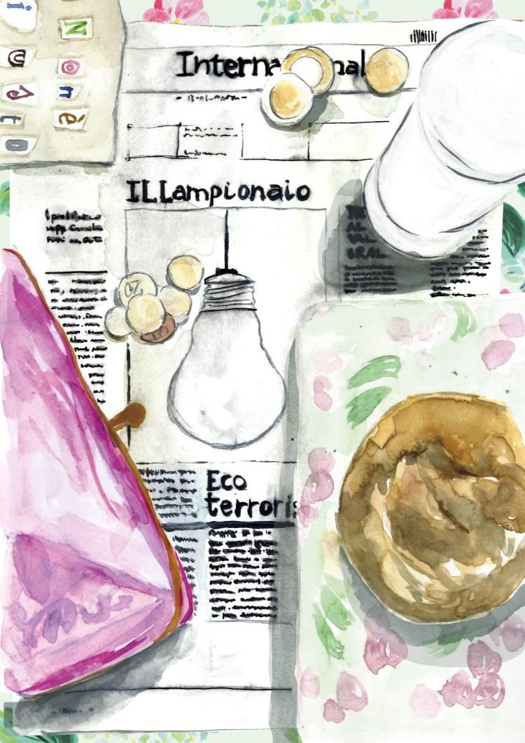 Il lampioanio è un racconto di Chiara Mancinelli illustrato da Daniela Calandra