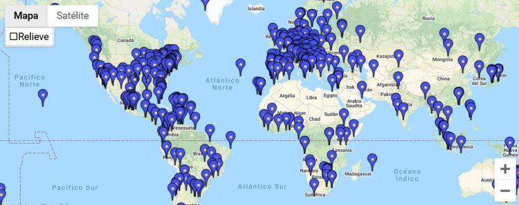 Mappa degli eventi organizzati per la giornata del Jazz (www.jazzday.com).