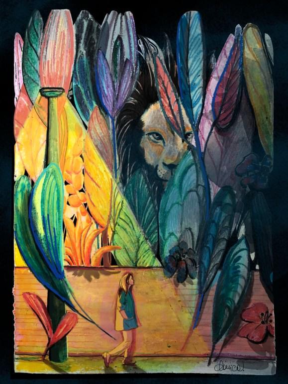 Las conversaciones nocturnas cuento de Chiara Mancinelli ilustración de Daniela Calandra