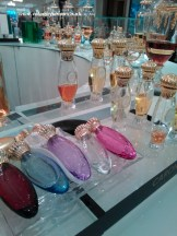 Caron refillable bottles at Fortnum's.
