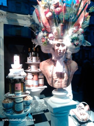 Window display at Fortnum and Mason