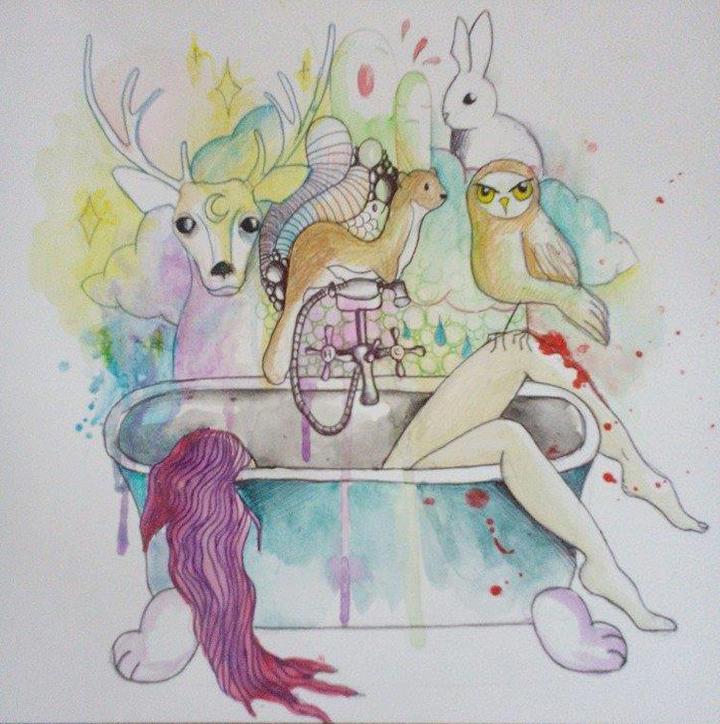 Aquarelle et stylo sur papier